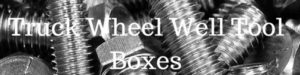 Pickup truck wheel well tool boxes